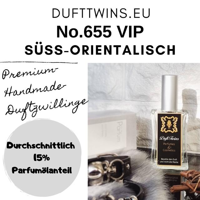 Bild zum Artikel Eau de Parfum VIP RAR fr Damen und Herren Unisex - No.655 - S Orientalisch Gourmand Pudrig Wrzig