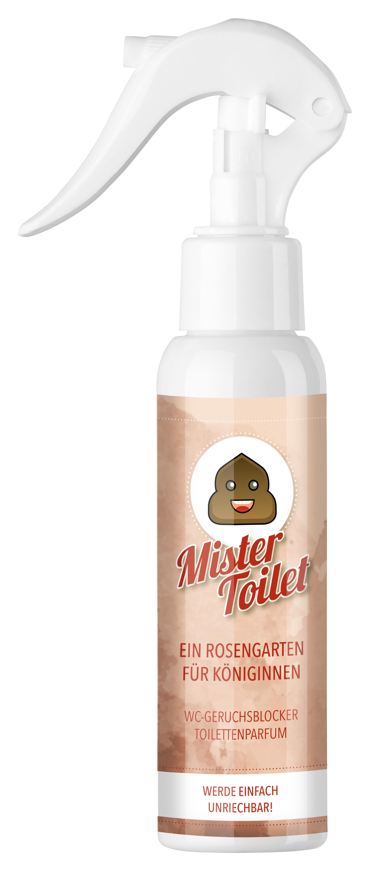 Bild zum Artikel: Mister Toilet - Ein Rosengarten für Königinnen / Einzelflasche / Toilettenparfum / WC-Geruchsblocker
