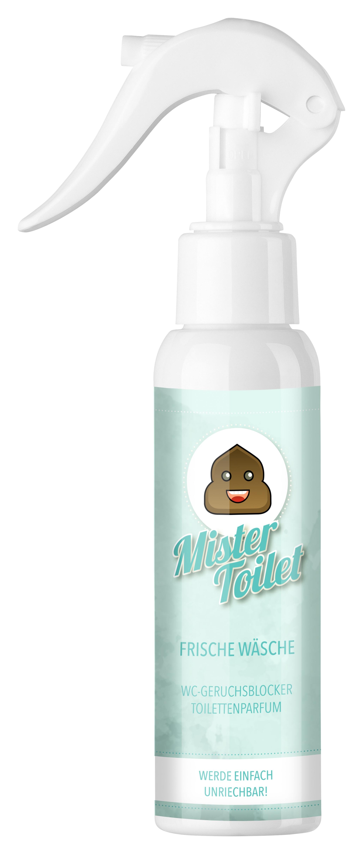 Bild zum Artikel: Mister Toilet - Frische Wäsche / Einzelflasche / Toilettenparfum / WC-Geruchsblocker