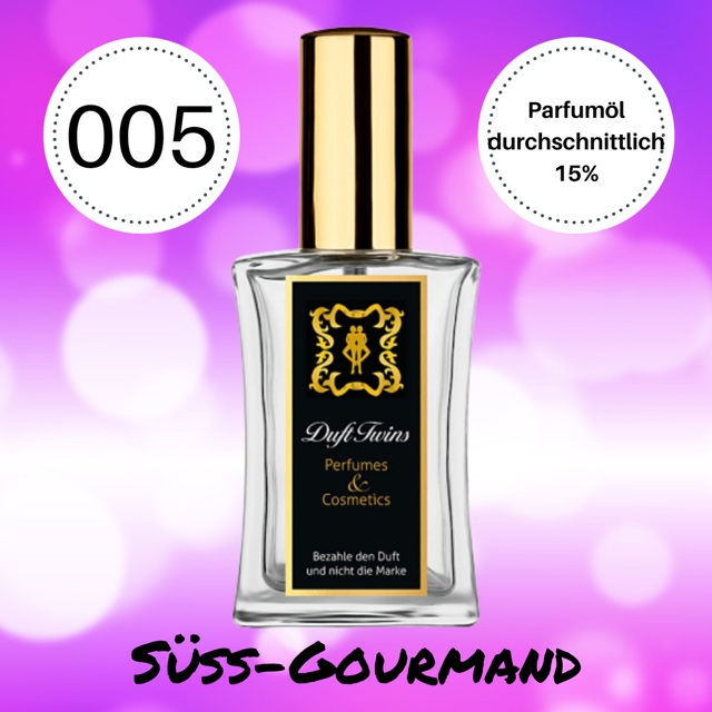 Bild zum Artikel: Eau de Parfum für Damen DuftTwins.eu - No.005 - Süß Gourmand Orientalisch Pudrig