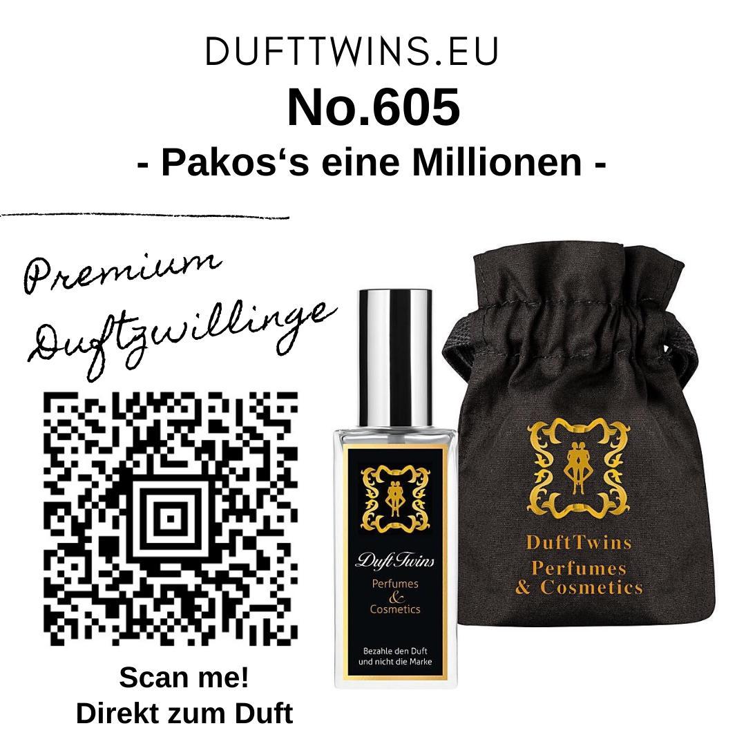 Bild zum Artikel: Extrait de Parfum für Herren No.605 Süß Würzig Orientalisch Fruchtig Synthetisch