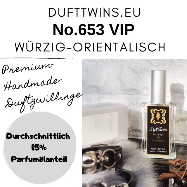 Bild zum Artikel: Eau de Parfum für Herren - No.653 - Würzig Orientalisch Holzig Pudrig Ledrig Süß