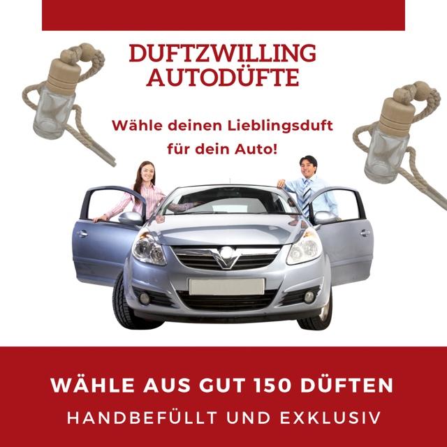 Bild zum Artikel: Alle unsere Duftzwilling-Düfte (Unisex) nun auch als Autoduft - Wähle dir deinen Lieblingsduft für dein Auto!!