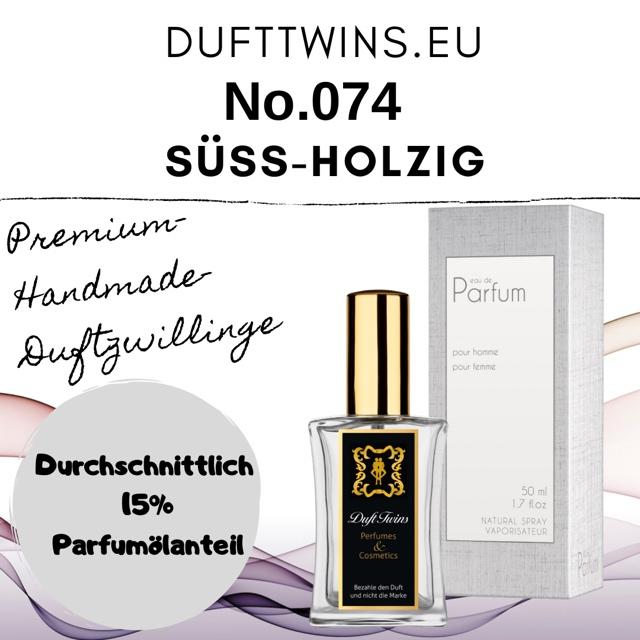 Bild zum Artikel: Eau de Parfum für Damen und Herren (Unisex) - No.074 - Süß Holzig Blumig Würzig