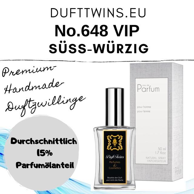 Bild zum Artikel: Eau de Parfum (VIP) für Damen und Herren (Unisex) - No.648 - Süß Würzig Ledrig Cremig Holzig Pudrig
