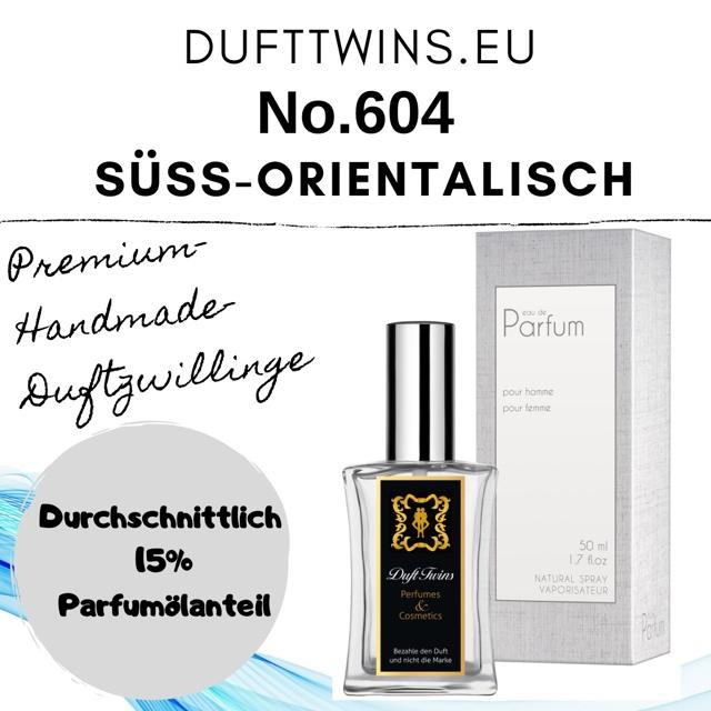 Bild zum Artikel: Eau de Parfum für Herren - No.604 - Süß Orientalisch Würzig Pudrig Frisch