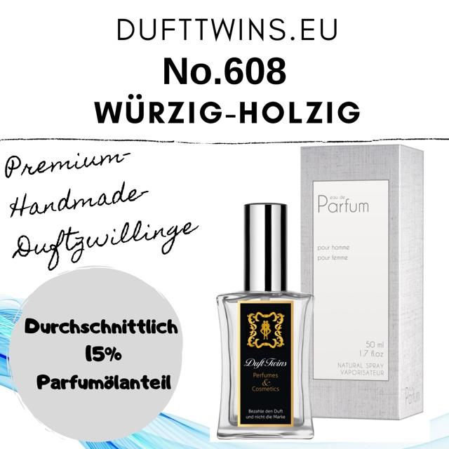 Bild zum Artikel: Eau de Parfum für Herren - No.608 - Würzig Holzig Ledrig Rauchig Blumig