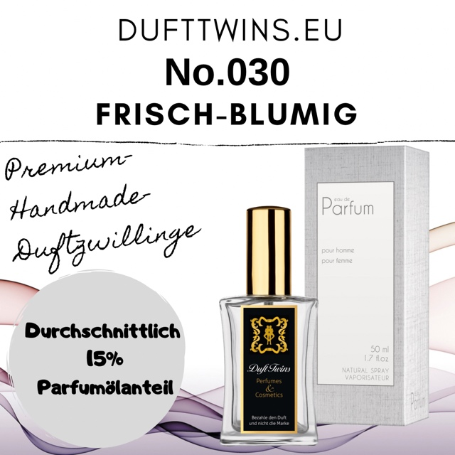 Bild zum Artikel: Eau de Parfum für Damen - No.030  - Frisch Blumig Aquatisch Holzig Zitrisch