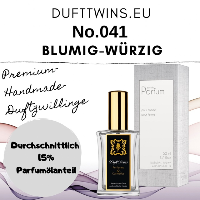 Bild zum Artikel: Eau de Parfum für Damen - No.041 - Blumig Würzig Orientalisch Harzig Animalisch
