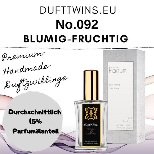 Bild zum Artikel: Eau de Parfum für Damen - No.092 - Blumig Fruchtig Süß Frisch
