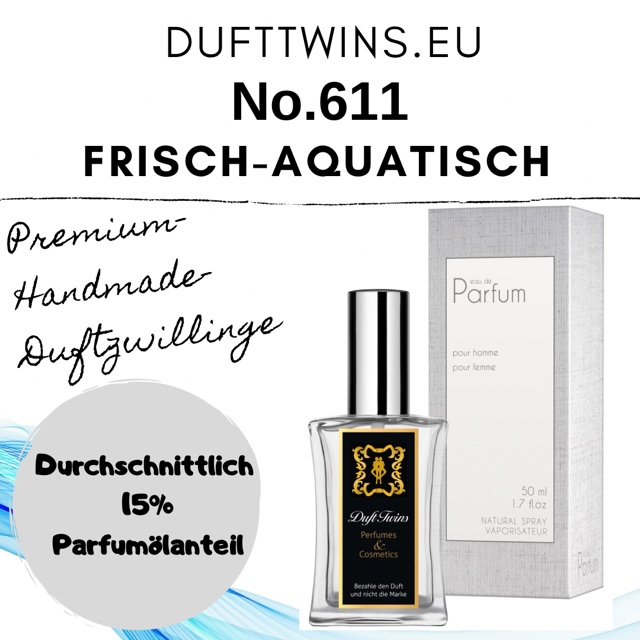 Bild zum Artikel: Eau de Parfum für Herren - No.611 - Frisch Aquatisch Synthetisch Würzig