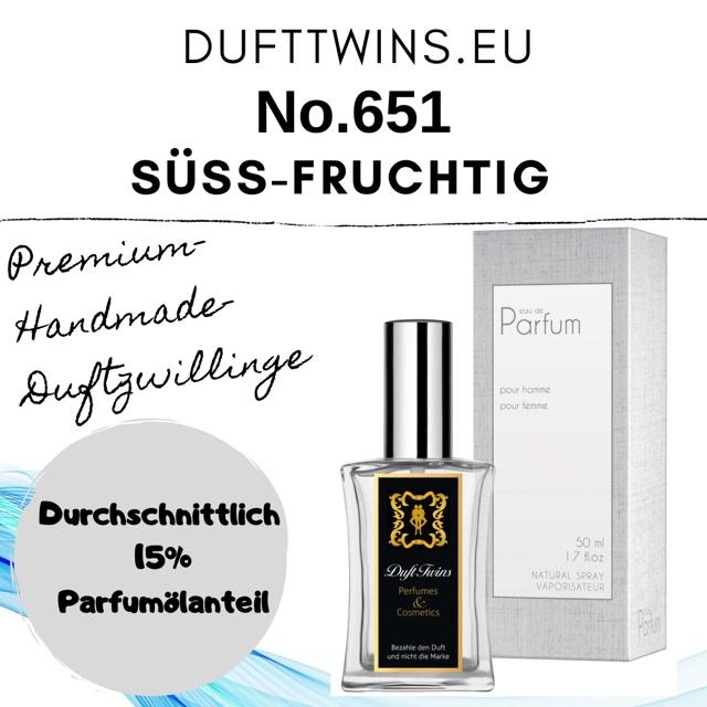 Bild zum Artikel: Eau de Parfum für Herren - No.651 - Süß Fruchtig Synthetisch Holzig Frisch
