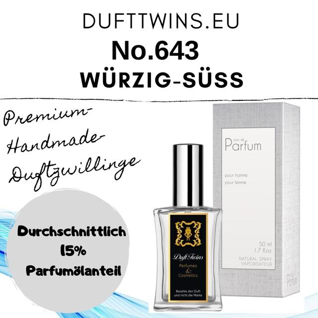 Bild zum Artikel: Eau de Parfum für Herren - No.643 - Würzig Süß Orientalisch Holzig Ledrig