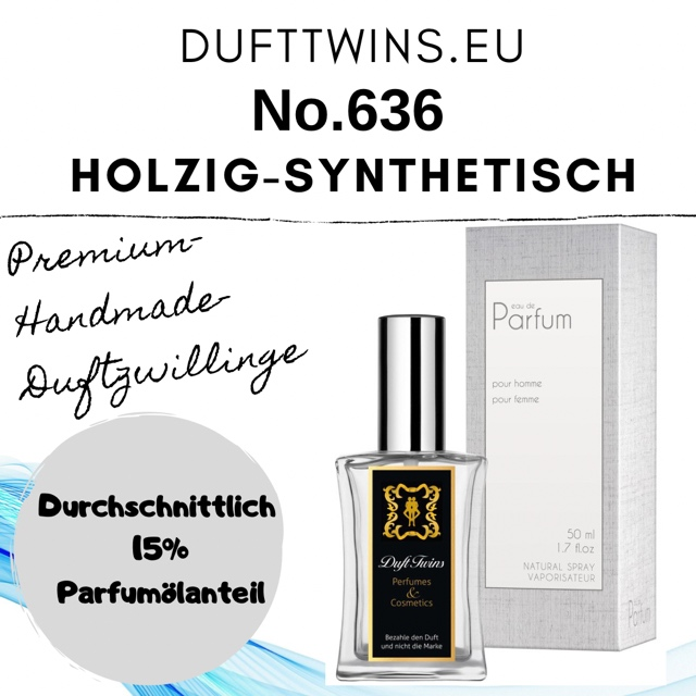 Bild zum Artikel: Eau de Parfum für Herren - No.636 - Holzig Synthetisch Grün Süß Würzig