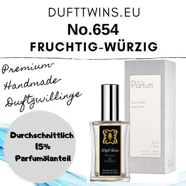 Bild zum Artikel: Eau de Parfum für Herren - No.654 - Fruchtig Würzig Frisch Zitrisch Süß