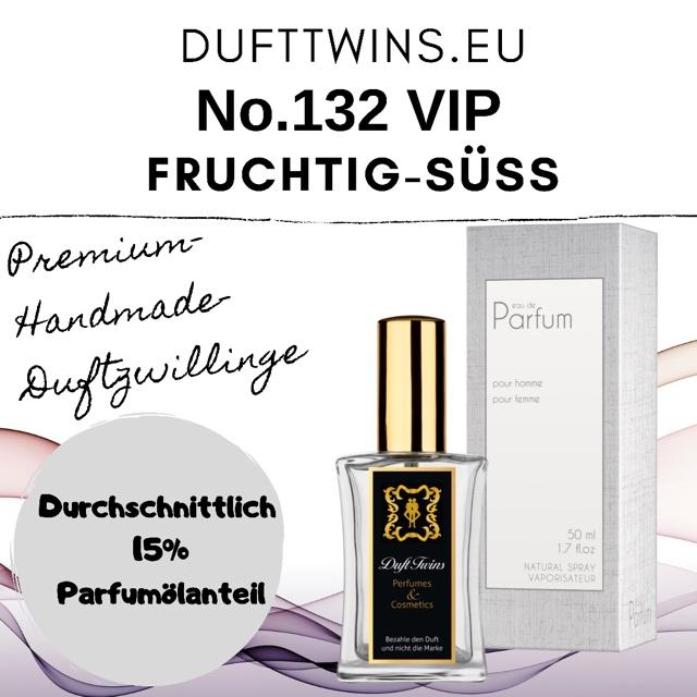 Bild zum Artikel: Eau de Parfum für Damen und Herren (Unisex) - No.132 VIP - Fruchtig Süß Gourmand Würzig Cremig
