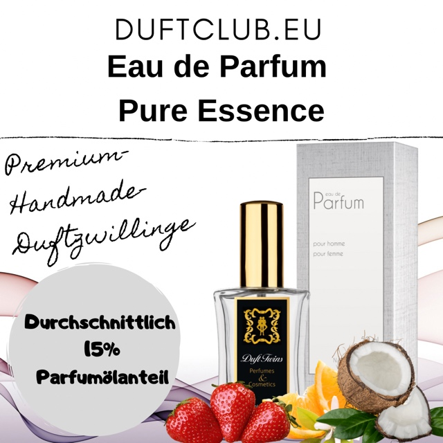 Bild zum Artikel: Eau de Parfum Duftzwillinge PURE ESSENCE (Auswahlliste) / Flakon je 50ml Inhalt